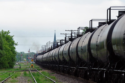 Montreal Maine & Atlantic, Crude Oil Train, St Jean, Qc