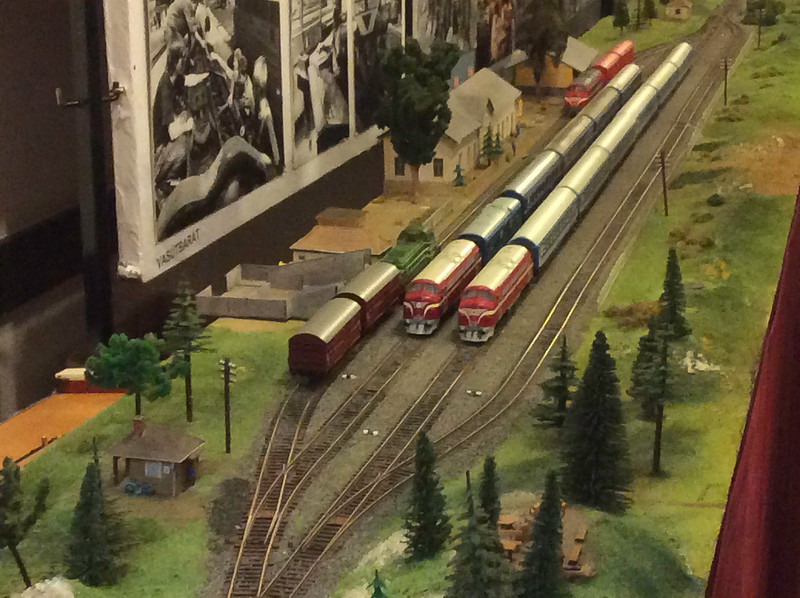 Nohab-orientated model railway in the staff club
