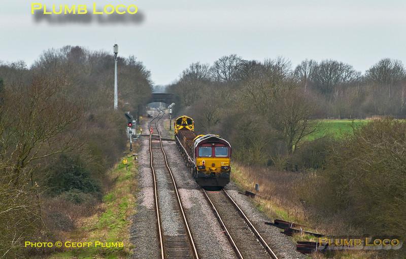 66084 & 66079, Claydon L&NE Junction, 6P53, 18th March 2014
