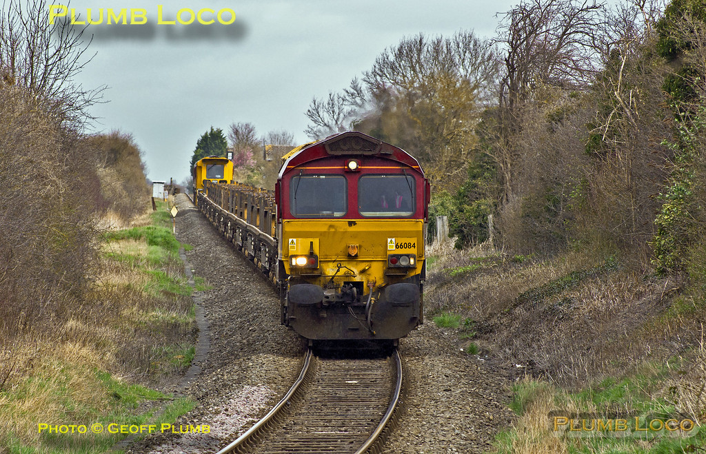 66084 & 66079, Park Mill Farm, 6P53, 18th March 2014