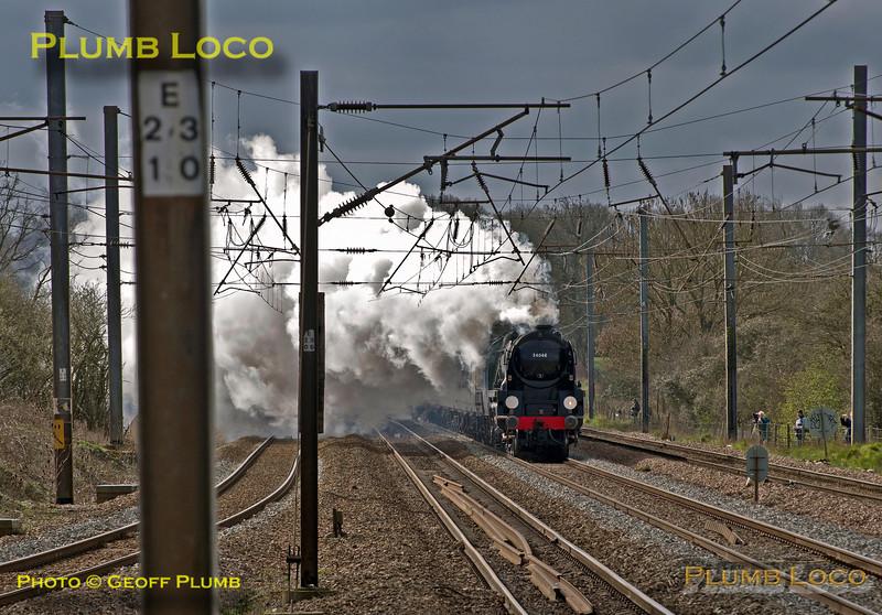 """34046 """"Braunton"""", Brookmans Park, 1Z67, 23rd March 2014"""
