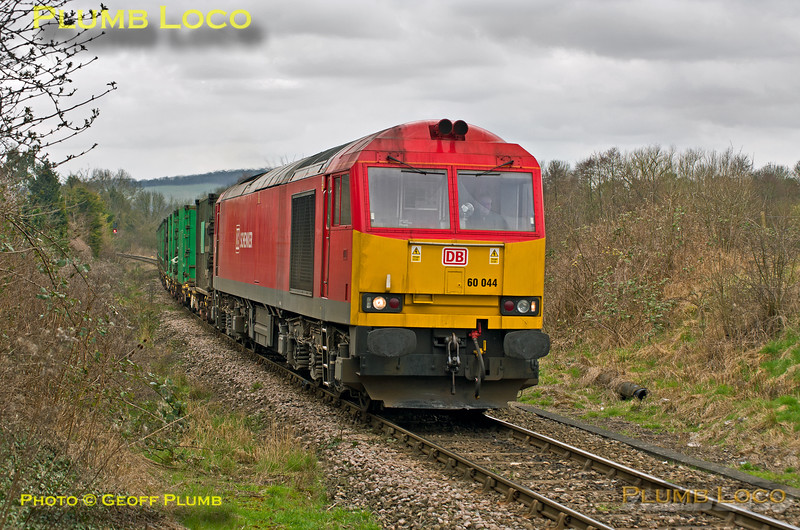60044, Park Mill Farm Crossing, 6M22, 23rd March 2015