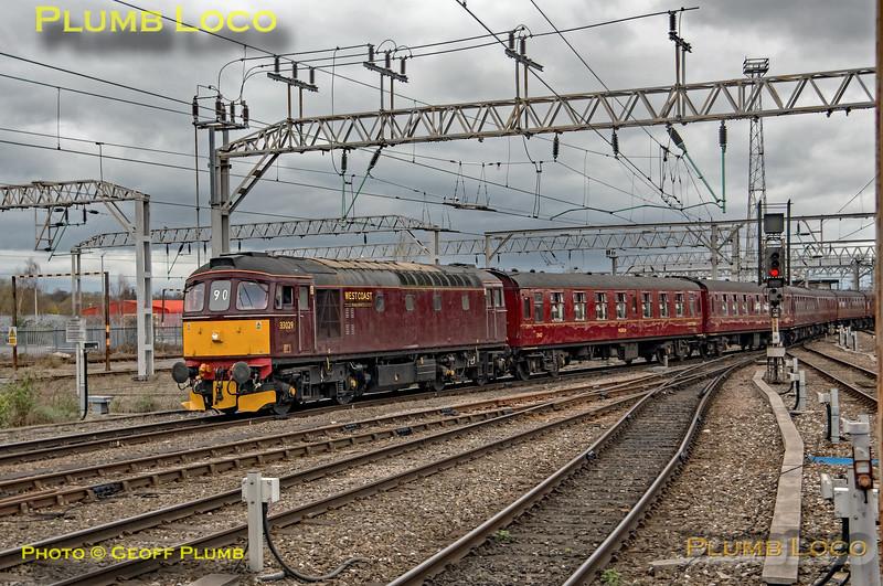 33029, Crewe Station Platform 12, 5Z32, 22nd March 2019