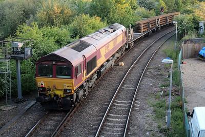 66041 tnt 66019 2041/6G11 Whitemoor-Stoke Jct seen leaving Whitemoor Yard 25/05/13.