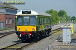 Looking superb in its newly applied BR green livery, complete with BR crest and Western Region number W55034, Chiltern Railways 121 034 undertook its first major move on Wednesday 4th May 2011. It worked as 5A00 from Tyseley Loco Works to Aylesbury DMUD prior to taking up passenger duties. It was due at Princes Risborough at 11:50 and arrived a few minutes early at 11:43 before reversing and setting off again to Aylesbury at 11:57, still a couple of minutes early. Digital Image No. GMPI8848.
