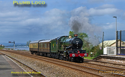 "5043 ""Earl of Mount Edcumbe"", Dawlish Warren, 5Z48, 9th May 2014"