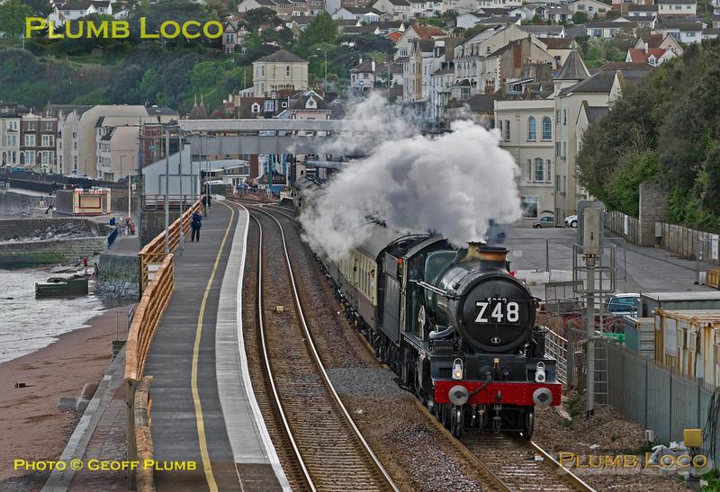 """5029 """"Nunney Castle"""", Dawlish Station, 1Z48, 9th May 2014"""