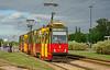Warszawa Konstal 105N2k tram on service 13 to Kolo departs Dw. Wschodni  11/05/2015.