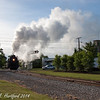 PM 1225 (2-8-4, Lima 1941) leads the 8:00 AM excursion extra out of Owosso for TrainExpo 2014.
