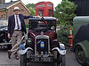 11 Jun 2011. War on the Line. In the station car park, a number of period vehicles were parked. Most were Austins - a brand leader at the time! Note the black-out covers on the vehicles and the white painted mudguard edges. It certainly leaves little to the imagination about the difficulties driving and for pedestrians at the time. The old gramophone on the bonnet was playing songs of WW2. Copyright Peter Drury 2011