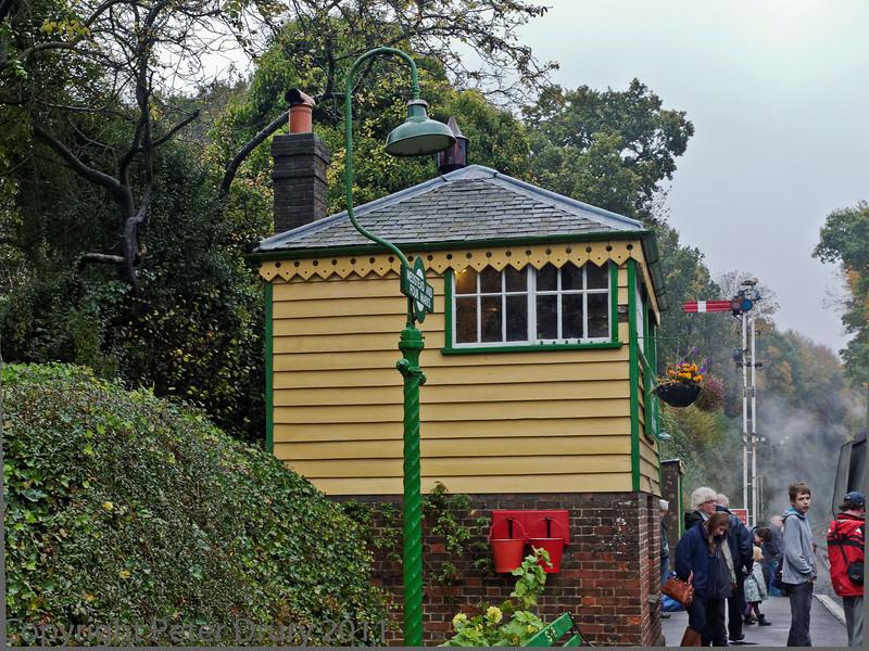30 Oct 2011 Medstead & Four Marks signal box.