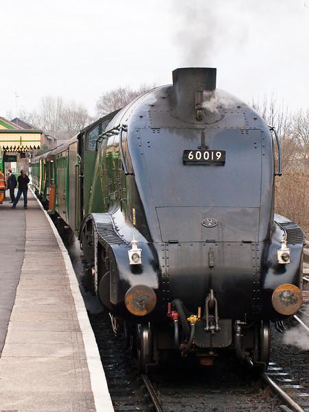 Alton - Mid Hants Railway. Copyright 2009 Peter Drury<br /> 60019 stands at Alton awaiting departure time.