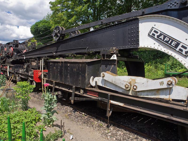 11 Jun 2011. War on the Line. 1944 built, 45 ton lift Steam Crane at Alresford. Copyright Peter Drury 2011