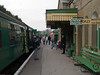 Alresford - Mid Hants Railway. Copyright 2009 Peter Drury<br /> Meanwhile, passengers board the train in the station.