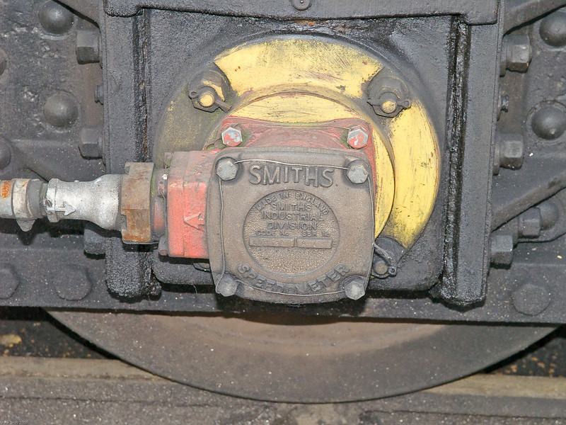 Alton - Mid Hants Railway. Copyright 2009 Peter Drury<br /> Speedometer fitted to the pony truck of 60019 Bittern.