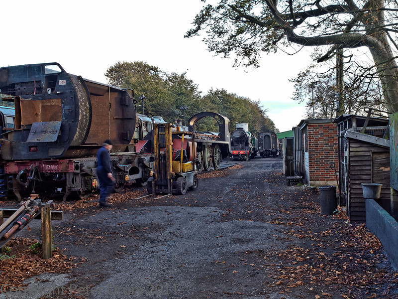 22 Oct 2011 View at the entrance to the engine shed yard.