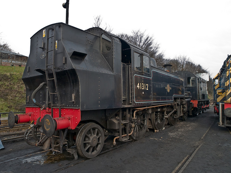 Ropley - Mid Hants Railway. Copyright 2009 Peter Drury<br /> Ivatt 4-6-2 Tank Engine awaiting its next tour of duty in the Loco Yard.