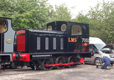 LMS 7051 (Hunslet 1697/1932) at Moor Road, 23rd June 2012.