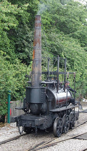 The Steam Elephant replica, built in 2001, was visiting from Beamish and was providing the Driver for a Fiver service on 23rd June 2012.Quite tricky getting the whole of the loco in shot.
