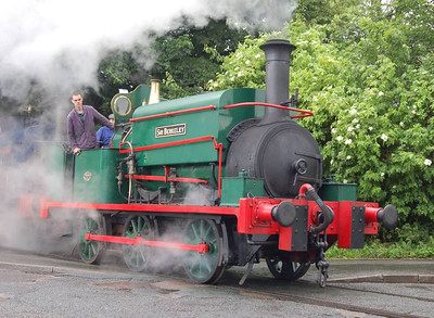When the Manning Wardles set off across Moor Road, Matthew Murray was enveloped in steam from Sir Berkeley.
