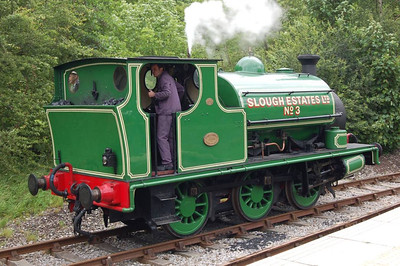 And a three-quarter view of Slough Estates No 3 (Hudswell Clarke 1544/1924) at Park Halt, 23rd June 2012.