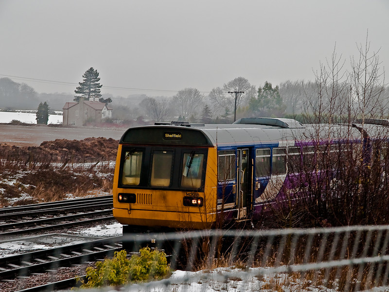 Milford Junction - Class 142 Pacer. Copyright Peter Drury 2010