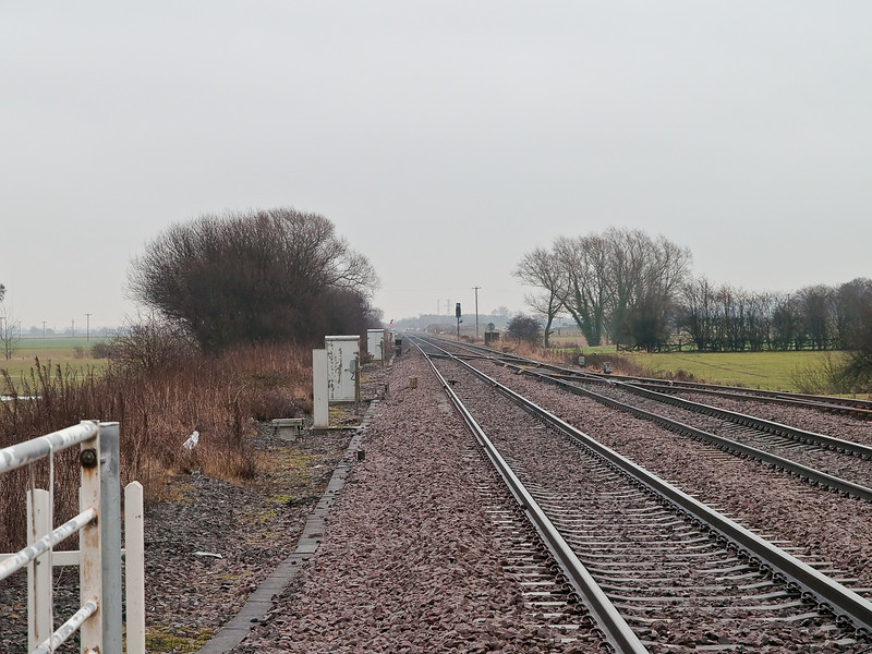 Leeds - Selby line. Copyright Peter Drury 2010<br /> Another view looking towards Selby.
