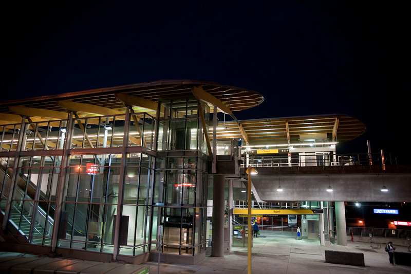 Rupert Station is one of two on the Millennium Line with offset platforms.  (The other is Renfrew Station.)