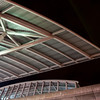 Detail of the free-standing roof element at Commercial - Broadway Station.