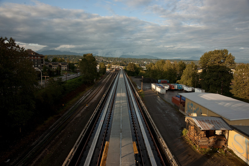A view north along the track from Sapperton Station.  This is one of the few opportunities, anywhere on the system, to see the track from above.