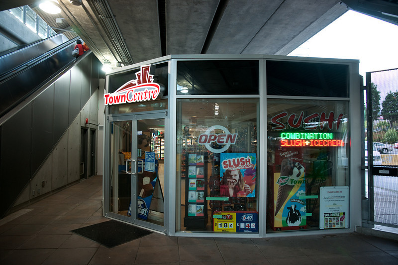 The other new retail outlet at Lougheed Town Centre Station.