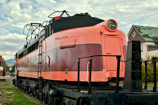 Milwaukee Road E70 Electric Locomotive on display at Deer Lodge, Montana