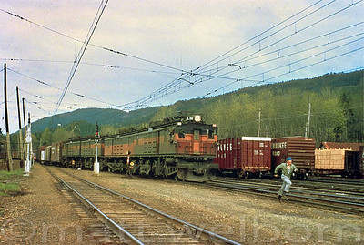 Milwaukee Road E50 Eastbound at the Small Yard in Cedar Falls, Washington.  Photographer Unknown
