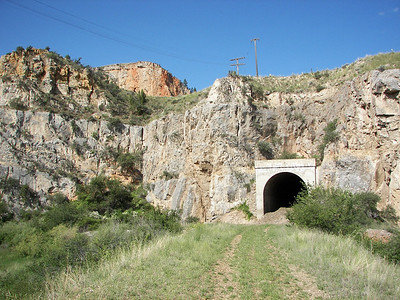 Lombard, Montana.  East portal tunnel #9 of former Milwaukee Road