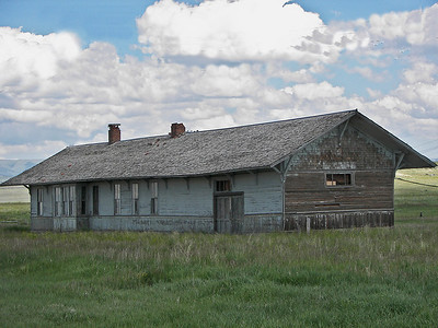 Former Milwaukee Road depot in Ringling, Montana
