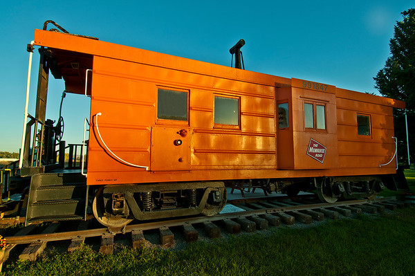 Three Forks, Montana.  Milwaukee caboose on Display