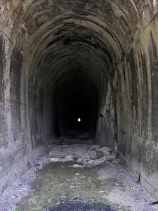 Inside of Pipestone Pass Tunnel, Milwaukee Road Tunnel #11