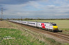 DVT 82231 leads the 1E18 14:00 Edinburgh - Kings Cross on the approach to Joan Croft Jnc at 16:47 on Tuesday 14th April 2015
