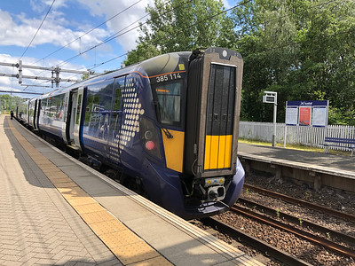 Class 385 at Springburn, Glasgow