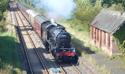 61994  seen passing the former Cumwhinton Station whilst working the southbound Fellsman on 29th August 2012.