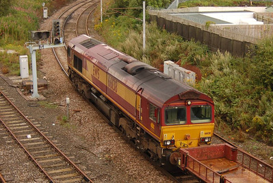 66138 was on the other end of the engineering train, 18th August 2012.