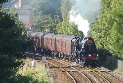 "44932 just south of Appleby Station on the southbound ""Waverley"" on Sunday 2nd September"