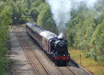 48151 heading out of Carlisle on the Settle & Carlisle on 11th July 2012 with The Fellsman excursion.