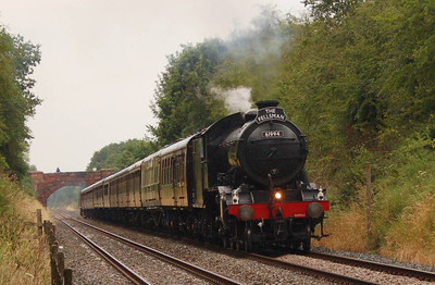 """The regular Wednesday """"Fellsman"""" was the reason for my trip to Cumwhinton. As on my previous visit, it started raining before the train appeared, albeit a lot less heavy than my last visit. Motive power was 61994, pleasing as I had missed two opportunities to see it in previous weeks."""
