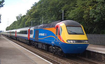 The Carlisle to London journey for the HST railtour was via the Tyne Valley line: 43073 is seen at the head of the train as it passes Brampton, 18th August
