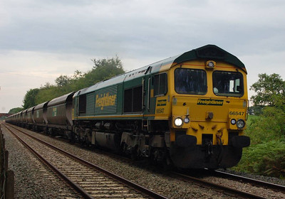 66547 on an up coal train at Cumwhinton on 15th August 2012.