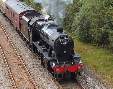 A closer view of 8F 48151 as seen from Eastern Way in Carlisle, 11th July 2012.