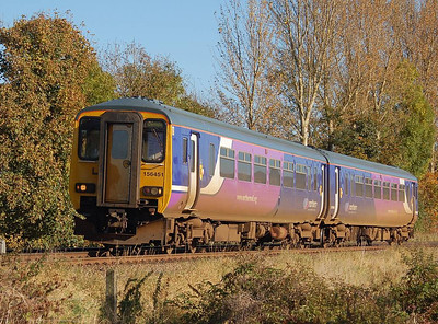 A rather unclean 156 451 approaching Corby Gates on the afternoon on 27th October 2012.