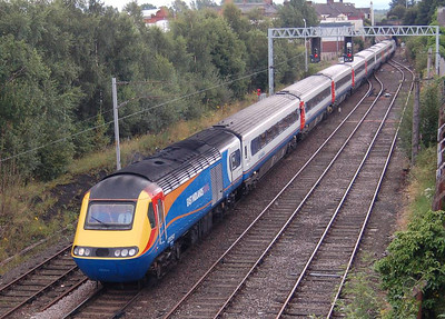 A view of the whole HST set at London Road Junction, 18th August 2012