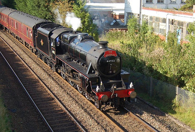 "A closer view of 44932 as ""The Waverley"" heads south from Appleby on 2nd September 2012."